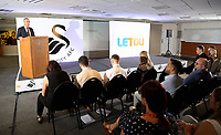 Pictured: Chris Pearlman, COO of Swansea City FC. Monday 19 June 2017<br />Re: Swansea City FC launch their new home and away kits and announce Letou as their new sponsor at the Liberty Stadium, Swansea, Wales, UK.