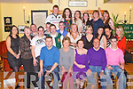 BON VOYAGE: Lesley-Ann Crean, Oakpark, Tralee (seated centre) enjoying a great time with family and friends before she goes to Australia at Stokers Lodge restaurant and bar, Tralee on Saturday.