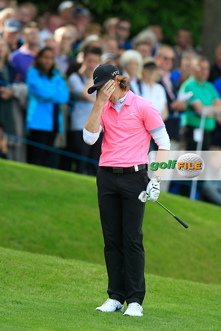 Tommy FLEETWOOD (ENG) during round 2 of the 2015 BMW PGA Championship over the West Course at Wentworth, Virgina Water, London. 22/05/2015<br /> Picture Fran Caffrey, www.golffile.ie:
