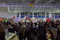 Travel Ban Protest, CMH Airport, Jan. 2017