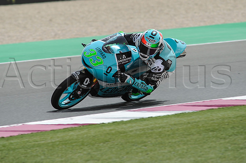 17th March 2018, Losail International Circuit, Lusail, Qatar; Qatar Motorcycle Grand Prix, Saturday qualifying; Enea Bastianini (Leopard)
