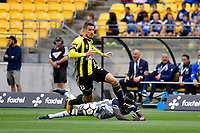 Wellington Phoenix&rsquo; Dario Vidosic and Melbourne Victory&rsquo;s Thomas Deng in action during the A League - Wellington Phoenix v Melbourne Victory FC at Westpac Stadium, Wellington, New Zealand on Sunday 3 December.<br /> Photo by Masanori Udagawa. <br /> www.photowellington.photoshelter.com