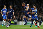 Harry Kane of Tottenham turns Beram Kayal of Brighton during the premier league match at the Amex Stadium, London. Picture date 17th April 2018. Picture credit should read: David Klein/Sportimage