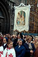 Spanien, Kastilien-León, Burgos, Prozession, Circulo Católico de Oberos.