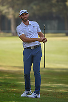 Dustin Johnson (USA) watches his approach shot on 11 during round 1 of the World Golf Championships, Mexico, Club De Golf Chapultepec, Mexico City, Mexico. 3/1/2018.<br /> Picture: Golffile | Ken Murray<br /> <br /> <br /> All photo usage must carry mandatory copyright credit (&copy; Golffile | Ken Murray)