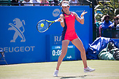 June 15th 2017, Nottingham, England; WTA Aegon Nottingham Open Tennis Tournament day 6;  Forehand from Johanna Konta of Great Britain who beat Yanina Wickmayer of Belgium in two sets in round two