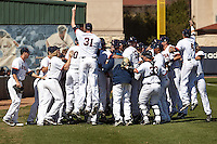 SAN ANTONIO, TX - FEBRUARY 18, 2017: The University of Texas at San Antonio Roadrunners split a double header (12-1, 7-8 in 11 innings) with the Quinnipiac University Bobcats at UTSA Roadrunner Field. (Photo by Jeff Huehn)