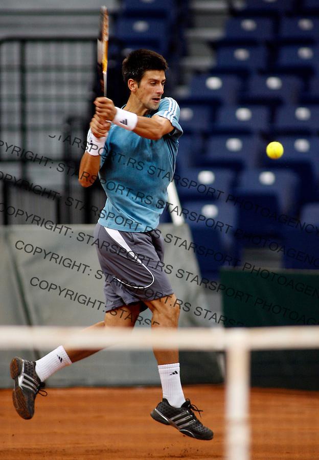 Tenis, Davis Cup, Serbia Vs. Australia.Serbian training session.Novak Djokovic.Lleyton Hewitt.Belgrade, 19.09.2007..foto; Srdjan Stevnovic