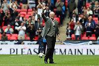 Paul Gascoigne waves to the crowd at half time during Tottenham Hotspur vs Leicester City, Premier League Football at Wembley Stadium on 13th May 2018