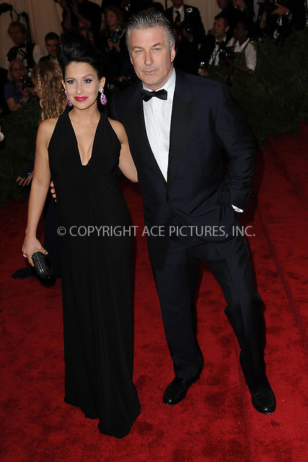 WWW.ACEPIXS.COM . . . . . .May 6, 2013...New York City...Hilaria Thomas and Alec Baldwin attending the PUNK: Chaos to Couture Costume Institute Benefit Gala at The Metropolitan Museum of Art in New York City on May 6, 2013  in New York City ....Please byline: Kristin Callahan...ACEPIXS.COM...Ace Pictures, Inc: ..tel: (212) 243 8787 or (646) 769 0430..e-mail: info@acepixs.com..web: http://www.acepixs.com .