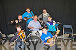 MUSIC; Fossa 2Miles Comhalhas Ceili? group who on Sunday morning had the crowds dancing on the street on Sunday morning during The Causeway Fleadh Cheoil, They were, Cian O'Sullivan, Paudie  Buckley, Brendan Kelliher, Thomas O'Sullivan, Michael Kelliher, Mary and Sean Kelliher....
