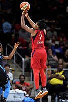 Washington, DC - June 1, 2019: Washington Mystics guard Ariel Atkins (7) hits a jump shot during game between Atlanta Dream and Washington Mystics at the St. Elizabeths East Entertainment and Sports Arena (Photo by Phil Peters/Media Images International)