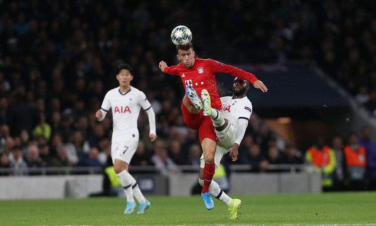 Bayern Munich's Ivan Perisic and Tottenham Hotspur's Danny Rose<br /> <br /> Photographer Rob Newell/CameraSport<br /> <br /> UEFA Champions League Group B  - Tottenham Hotspur v Bayern Munich - Tuesday 1st October 2019 - White Hart Lane - London<br />  <br /> World Copyright © 2018 CameraSport. All rights reserved. 43 Linden Ave. Countesthorpe. Leicester. England. LE8 5PG - Tel: +44 (0) 116 277 4147 - admin@camerasport.com - www.camerasport.com