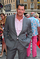 Craig Fairbrass<br /> The &quot;Bula Quo!&quot; UK film premiere, Odeon West End cinema, Leicester Square, London, England.<br /> July 1st, 2013<br /> half length suit pink shirt grey gray suit hands in pockets  <br /> CAP/BF<br /> &copy;Bob Fidgeon/Capital Pictures