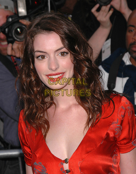 "ANNE HATHAWAY.The New York premiere of her new film, ""Cinderella Man"" at the Loews Lincoln Square Theater,New York, New Yor.June 1st, 2005.Photo Credit: Patti Ouderkirk/AdMedia.headshot portrait red lipstick.www.capitalpictures.com.sales@capitalpictures.com.© Capital Pictures."