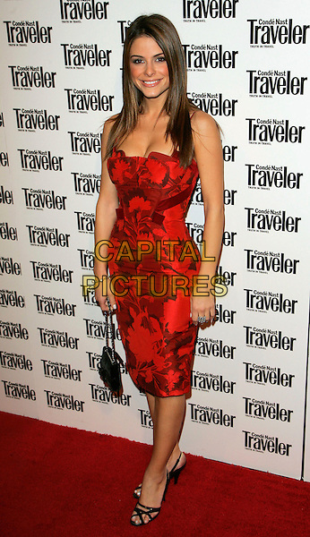 MARIA MENOUNOS.At the Conde Nast Traveler 19th Annual Readers' Choice Awards at the American Museum of Natural History, New York, NY, USA..October 16th, 2006.Ref: ADM/JL.full length red dress black purse bag.www.capitalpictures.com.sales@capitalpictures.com.©Jackson Lee/AdMedia/Capital Pictures.