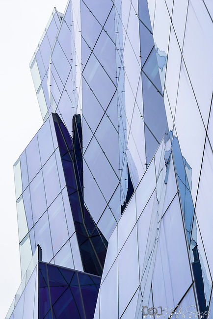 West facade of the Dr Chau Chak Wing Business School Building at UTS by Architect Frank Gehry, Sydney, Australia