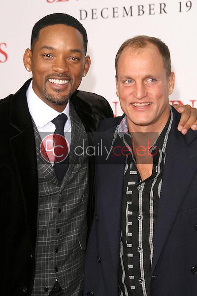 Will Smith and Woody Harrelson <br /> at the Los Angeles Premiere of 'Seven Pounds'. Mann Village Theatre, Westwood, CA. 12-16-08<br /> Dave Edwards/DailyCeleb.com 818-249-4998