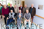 A plaque with a verse from poet Brendan Kennelly was unveiled in the Ard Cúram Day Care Centre Listowel on Thursday morning. Pictured from front l-r were: Peter White, Brendan Kennelly and John Doran. Back l-r were: Gerald Stack, Sean O'Neill, Eddie Walsh, Richard O'Mahony, Joe O'Gorman and Matt Quinn.