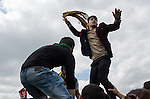 A young man stands on another's shoulders to show his enthusiasm during Newroz, the Kurdish New Year celebration, in Suruç, Turkey, March 17, 2015. Newroz, or Nowruz, is an ancient holiday celebrated by a multitude of ethnic groups across Iran, Central Asia, and the Caucuses, and ushers in the first day of Spring, March 21. For Kurds, Newroz is a means of political and cultural expression, featuring Kurdish politicians, activists, and musicians, and has become a manifestation of Kurdish identity. In Turkey, the celebrations begin a few days before the Vernal Equinox, culminating in a huge gathering in the heart of Turkey's Kurdish population, the southeastern city of Diyarbakir. This year, PKK founder Abdullah Öcalan, who despite serving a life sentence for treason still enjoys widespread influence among Kurds, sent a letter that was read at Newroz in Diyarbakir, calling for an end to the PKK's armed struggle against the Turkish state.