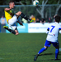 Action from the A-League preseason football match between Wellington Phoenix and Miramar/Olympic at David Farrington Park in Wellington, New Zealand on Sunday, 25 August 2019. Photo: Dave Lintott / lintottphoto.co.nz
