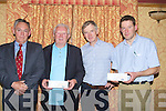 GREYHOUND NIGHT: Members of the Kerry General Hospital and Greyhound Board, Tralee launched Bowl Cancer night at the Dogs in The meadowland Hotel, Tralee on Monday night, L-r: Mr Tom McCormack, Liam Brassil (Tralee Greyhound Board), Mr Brian Waldron and Mr Kevin Murray (Kerry General).................................................................... ........