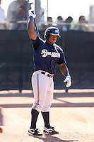 Kentrail Davis - Milwaukee Brewers - 2010 Instructional League.Photo by:  Bill Mitchell/Four Seam Images..