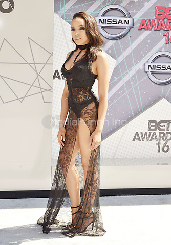 LOS ANGELES, CA - JUNE 26: Tinashe at the 2016 BET Awards at the Microsoft Theater on June 26, 2016 in Los Angeles, California. Credit: Koi Sojer/MediaPunch