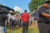 Tiger Woods (USA) departs 18 during 4th round of the 100th PGA Championship at Bellerive Country Club, St. Louis, Missouri. 8/12/2018.<br /> Picture: Golffile | Ken Murray<br /> <br /> All photo usage must carry mandatory copyright credit (&copy; Golffile | Ken Murray)