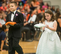 NWA Democrat-Gazette/ANTHONY REYES &bull; @NWATONYR<br /> Camden Right and Alison Pattyson<br /> Images from the Rogers Heritage Homecoming rally Friday, Sept. 25, 2015 at the school in Rogers. The event including the introduction of the 2015 homecoming court, musical performances, dancing and a pep rally for a football game against Springdale.