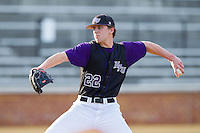 High Point Panthers starting pitcher Will Resnik (22) in action against the Wake Forest Demon Deacons at Wake Forest Baseball Park on April 2, 2014 in Winston-Salem, North Carolina.  The Demon Deacons defeated the Panthers 10-6.  (Brian Westerholt/Four Seam Images)