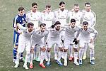Real Madrid's team photo with Iker Casillas, Raphael Varane, Toni Kroos, Sami Khedira, Karim Benzema, Cristiano Ronaldo, Fabio Coentrao, Garet Bale, Daniel Carvajal, Isco and Nacho Fernandez during La Liga match.February 7,2015. (ALTERPHOTOS/Acero)