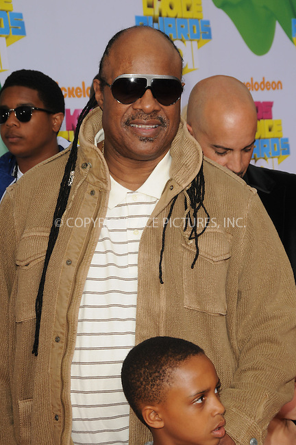 WWW.ACEPIXS.COM . . . . . ....April 2 2011, Los Angeles....Stevie Wonder arriving at Nickelodeon's 24th Annual Kids' Choice Awards at Galen Center on April 2, 2011 in Los Angeles, CA....Please byline: PETER WEST - ACEPIXS.COM....Ace Pictures, Inc:  ..(212) 243-8787 or (646) 679 0430..e-mail: picturedesk@acepixs.com..web: http://www.acepixs.com