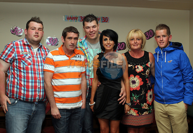 Joanne Boyle with her family at her 30th in the Rugby Club...(Photo Jenny Matthews/www.newsfile.ie)