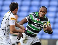 Reading, England. Sailosi Tagicakibau of London Irish in action during the LV= Cup match between London Irish and Sale Sharks at Madejski Stadium on November 11, 2012 in Reading, England.
