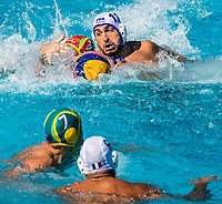 11 PEISSON Mathieu Rene FRA  <br /> FRA (white cap) -  AUS (blue cap)<br /> Preliminary Round Water Polo Women<br /> Day06  19/07/2017 <br /> XVII FINA World Championships Aquatics<br /> Alfred Hajos Complex Margaret Island  <br /> Budapest Hungary <br /> Photo @ Deepbluemedia/Insidefoto