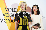 (L to R) Australian actress Cate Blanchett and the Japanese actress Yoshino Kimura pose for the cameras during the opening celebration for Louis Vuitton's ''Volez, Voguez, Voyagez'' exhibition on April 21, 2016, Tokyo, Japan. After a successful run in Paris, the luxury fashion brand now brings the instalment to Tokyo, which traces Louis Vuitton's history from 1854 to today. Some 1,000 objects, including rare trunks, photographs and handwritten client cards will be displayed. Japanese room will be set up specially for Japan, showcasing such rare items as makeup and tea ceremony trunks for kabuki actor Ebizo XI. The exhibition will be open to the public free of charge from April 23 to June 19. (Photo by Rodrigo Reyes Marin/AFLO)