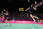 Chung JS and Lee YD, Korea,Win Bronze Mens Doubles, Olympic Badminton London Wembley 2012