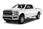 2019 Ram 2500 Laramie 4 Door Pick Up angular front stock photos of front three quarter view