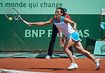 Francesca Schiavone (ITA) loses at Roland Garros in Paris, France on June 2, 2012