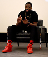 """WEST HOLLYWOOD - FEBRUARY 15: Executive Producer Dwayne Wade on the Q&A panel following the LA screening of Fox Sports """"Shot in the Dark"""" at the Pacific Design Center on February 15, 2018 in West Hollywood, California.(Photo by Frank Micelotta/Fox/PictureGroup)"""