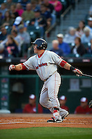 Pawtucket Red Sox designated hitter Humberto Quintero (40) at bat during a game against the Buffalo Bisons on August 28, 2015 at Coca-Cola Field in Buffalo, New York.  Pawtucket defeated Buffalo 7-6.  (Mike Janes/Four Seam Images)
