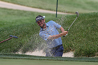 Bethesda, MD - July 2, 2017: Spencer Levin bunker shot during final round of professional play at the Quicken Loans National Tournament at TPC Potomac  in Bethesda, MD, July 2, 2017.  (Photo by Elliott Brown/Media Images International)