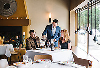 Wine Director and Owner of Barolo Grill Ryan Fletter pours wine in Denver, Colorado, Wednesday, May 23, 2018. Barolo Grill was awarded the Grand Award for 2018 by Wine Spectator Magazine.<br /> <br /> Photo by Matt Nager
