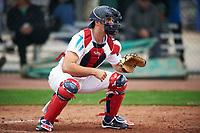 Nick Hanks (12) of notre dame High School in Rayne, Louisiana during the Under Armour All-American Pre-Season Tournament presented by Baseball Factory on January 14, 2017 at Sloan Park in Mesa, Arizona.  (Mike Janes/MJP/Four Seam Images)