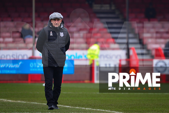 Ian Holloway during the Sky Bet League 2 match between Crawley Town and Grimsby Town at The People's Pension Stadium, Crawley, England on 25 January 2020. Photo by Lee Blease.