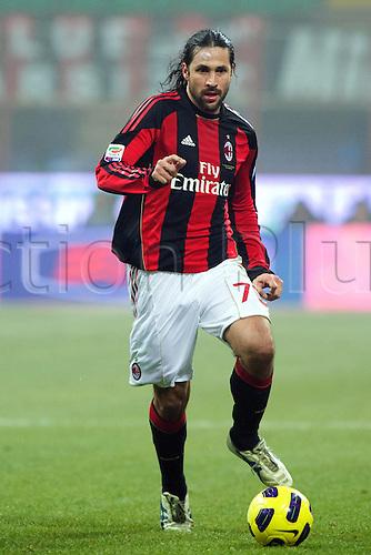 01.02.2011 Mario Yepes (Milan),  Football : Italian Serie A 2010-2011, match between  A.C. Milan (0-0) S.S. Lazio at San Siro Meazza Stadium, Milan, Italy,