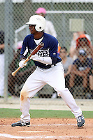 Josh Hart #16 of Parkview High School, Georgia playing for the East Cobb Baseball during the WWBA World Champsionship 2012 at the Roger Dean Complex on October 27, 2012 in Jupiter, Florida. (Stacy Jo Grant/Four Seam Images).