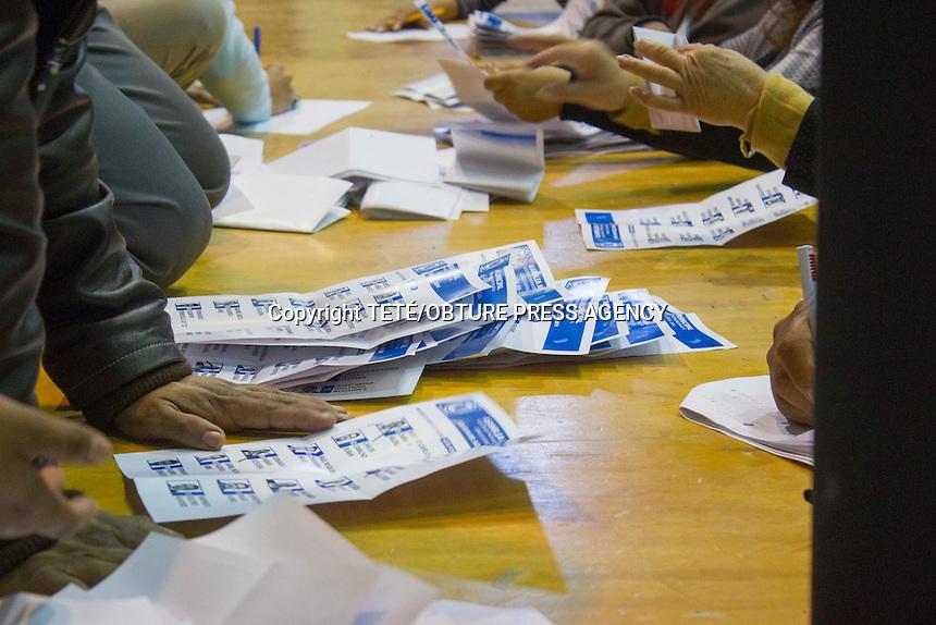San Juan del R&iacute;o, Qro. 26 enero 2014.- En una apresurada convocatoria por parte del CEN del PAN en el municipio, se llev&oacute; a cabo la elecci&oacute;n de candidatos para consejeros. <br /> Con la participaci&oacute;n de aproximadamente 500 panistas se elijieron a Sergio Arturo Rojas Flores con 208 votos, Gabriel Nicol&aacute;s Figueroa Uribe 193 votos, Carlos Camacho Dur&aacute;n 192 votos, Roberto Carlos Cabrera Valencia 168, Edgar Inzunza Ballesteros 141 votos y Fernando Damian Oceguera 105 votos. El evento se realiz&oacute; en el CECUCO de esta ciudad. TET&Eacute;/OBTURE PRESS AGENCY;