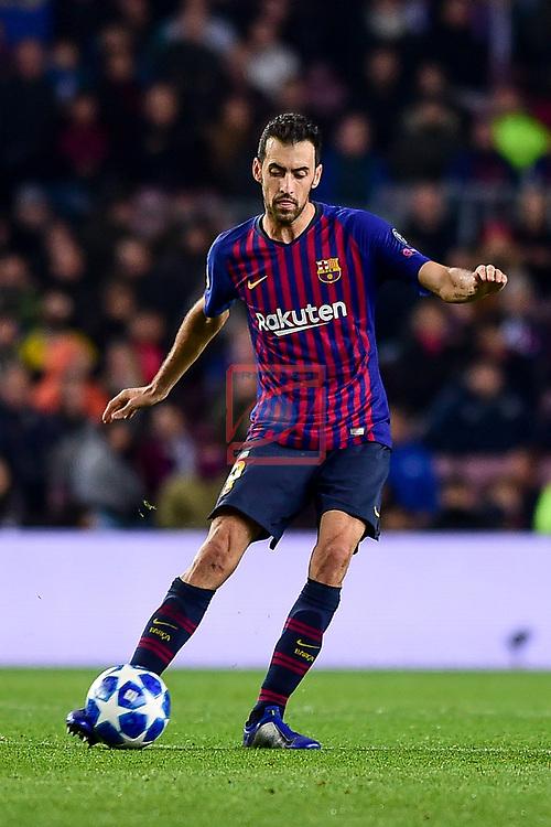 UEFA Champions League 2018/2019 - Matchday 6.<br /> FC Barcelona vs Tottenham Hotspur FC: 1-1.<br /> Sergio Busquets.